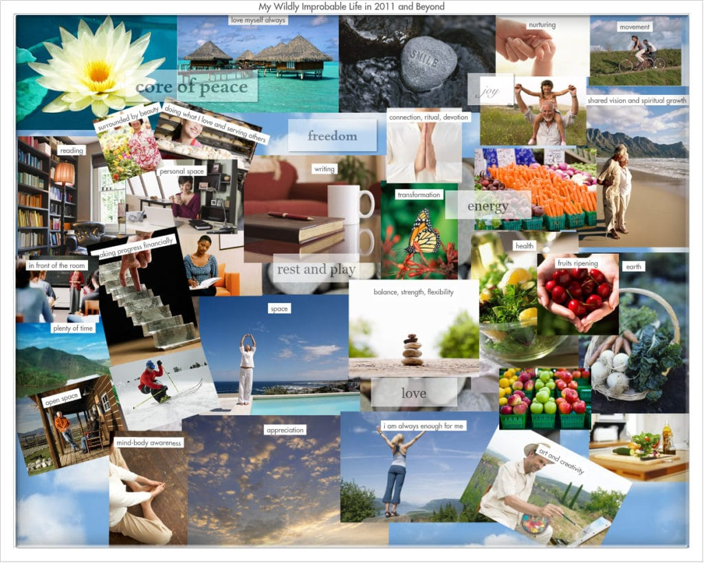great example of the vision board